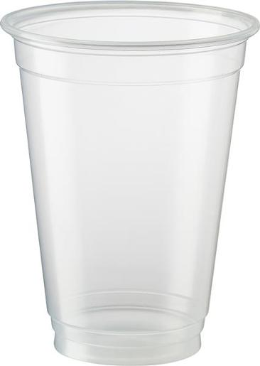 ECO SMART CLEAR PLASTIC BEER CUPS 285ML 50S