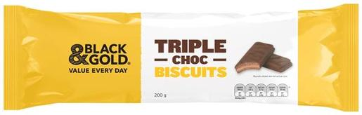 TRIPLE CHOCOLATE BISCUITS 200G