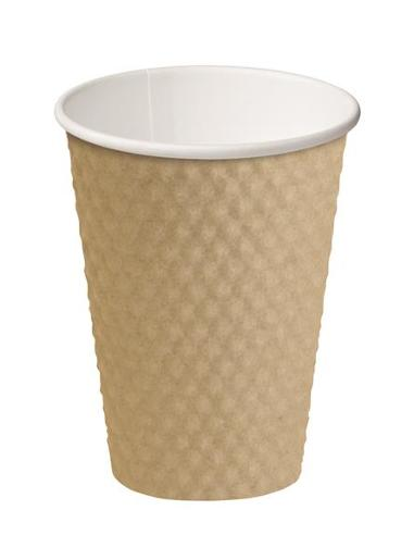 CUP DIMPLE PAPER HOT CUPS BROWN 355ML