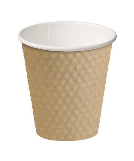 CUP DIMPLE PAPER HOT CUPS BROWN 280ML