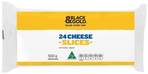 CHEESE INDIVIDUALLY WRAPPED SLICES 500GM