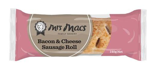 BACON AND CHEESE SAUSAGE ROLL 140GM