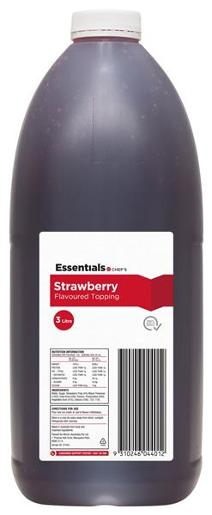 STRAWBERRY TOPPING 3L