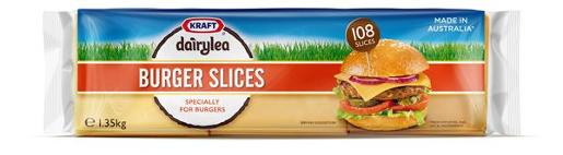 CHEESE BURGER SLICES DAIRYLEA 1.35KG