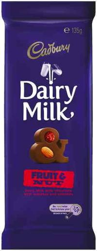 FRUIT AND NUT CHOCOLATE 135GM
