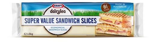 CHEESE SANDWICH SLICES SUPER VALUE 1.5KG