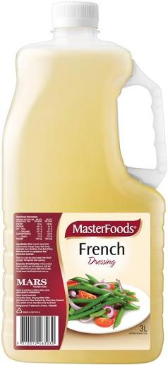 FRENCH VINAGRETTE SALAD DRESSING 3L