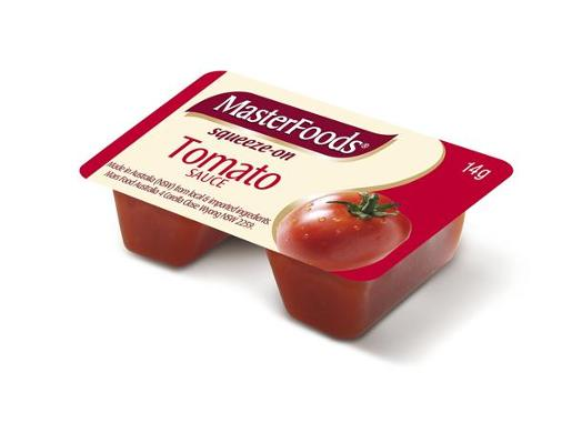 TOMATO SAUCE SQUEEZY PORTIONS 100X14G