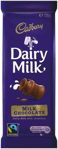 DAIRYMILK  CHOCOLATE BAR 135GM