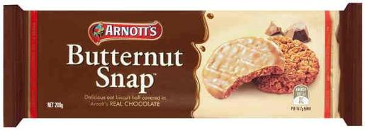 BISCUITS CHOCOLATE BUTTERNUT SNAPS 200GM