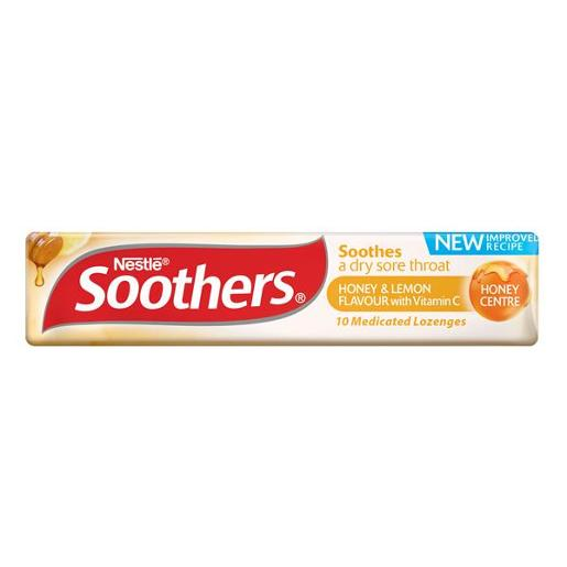 SOOTHERS HONEY AND LEMON MEDICATED LOZENGES 45GM