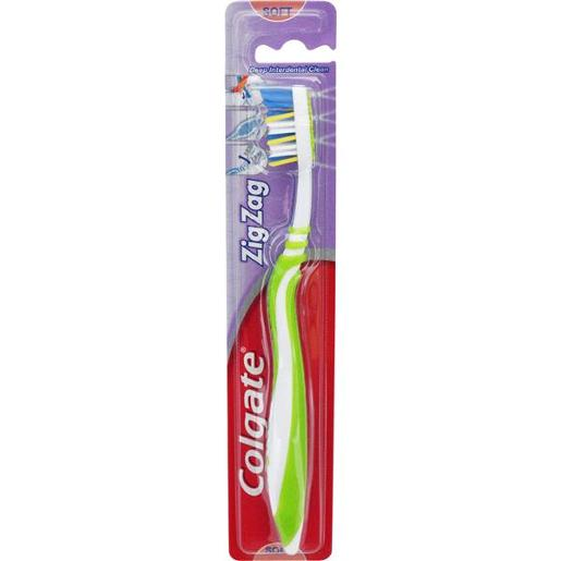 TOOTHBRUSH ZIG ZAG ADULT SOFT 1PK