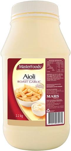 ROAST GARLIC AIOLI SALAD DRESSING 2.2KG