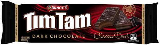 BISCUITS CHOCOLATE TIM TAM CHOCOLATE CLASSIC DARK 200GM