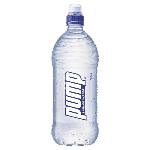 Sports Bottle Woolworths: PUMP PURE NATURAL WATER 750ML
