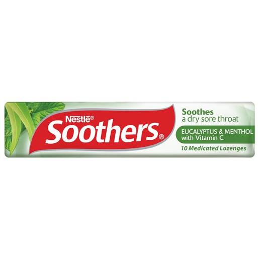 SOOTHERS EUCALYPTUS AND MENTHOL MEDICATED LOZENGES 40GM
