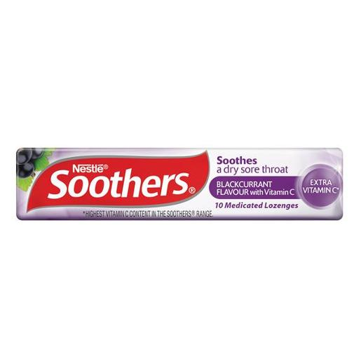 SOOTHERS BLACKCURRENT MEDICATED LOZENGES 45GM