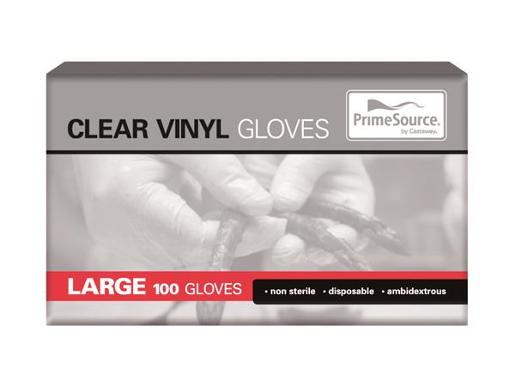 GLOVES POWDERED VINYL LARGE 100S