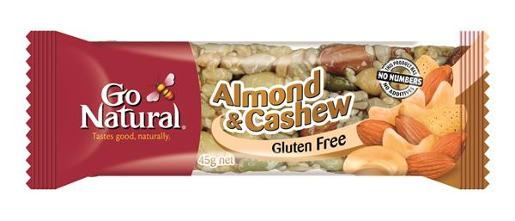 BAR ALMOND AND CASHEW 45GM