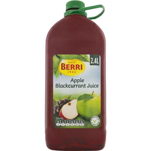 JUICE APPLE BLACKCURRENT NO ADDED SUGAR 2.4L