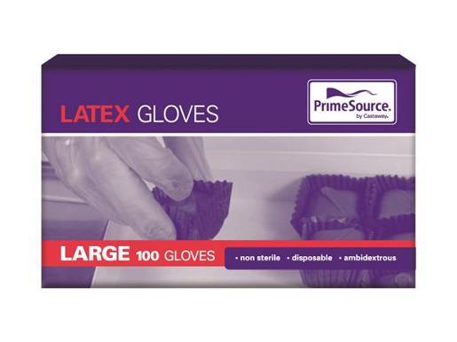 GLOVES LATEX LARGE 100S