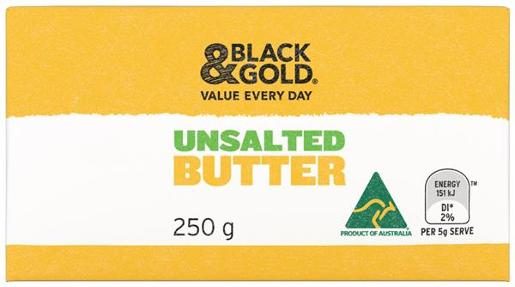 UNSALTED BUTTER 250GM