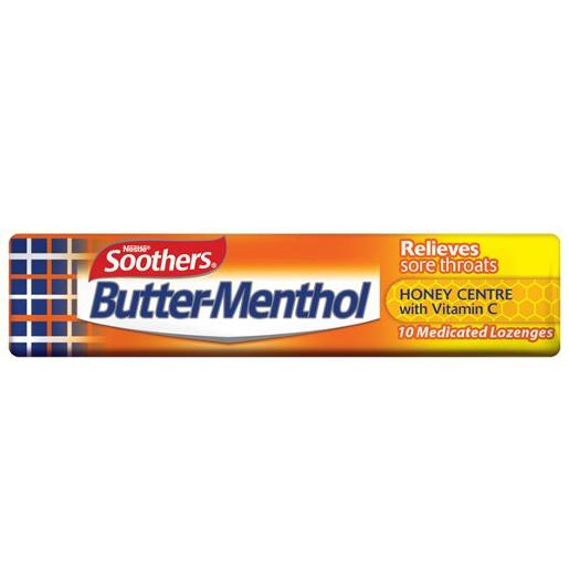 BUTTER MENTHOL HONEY MEDICATED LOZENGES STICK 40GM