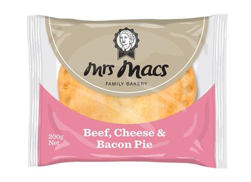 BEEF CHEESE AND BACON PIE 200GM