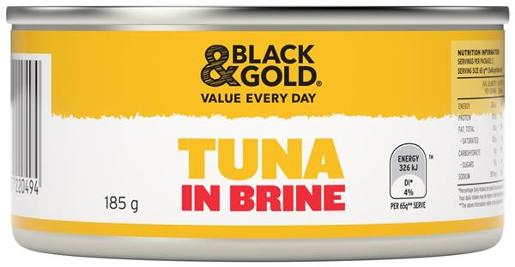 TUNA CHUNKS IN BRINE 185GM