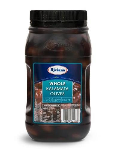 WHOLE KALAMATA OLIVES 2.1KG