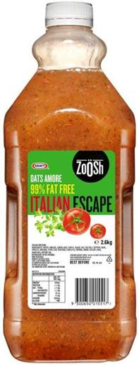 FAT FREE ITALIAN DRESSING ZOOSH 2.6KG