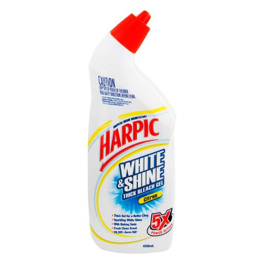 WHITE AND SHINE LIQUID TOILET CLEANER CITRUS 450ML