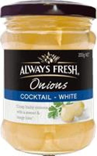 WHITE COCKTAIL ONIONS 200GM