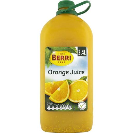 JUICE ORANGE NO ADDED SUGAR 2.4L
