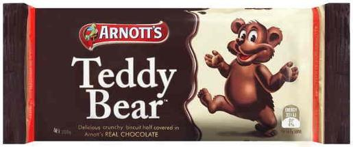 BISCUITS CHOCOLATE TEDDY BEAR 200GM