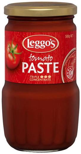 GLASS BOTTLE TOMATO PASTE 500GM