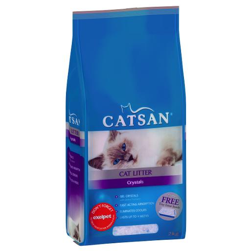 CAT LITTER CRYSTALS 2KG