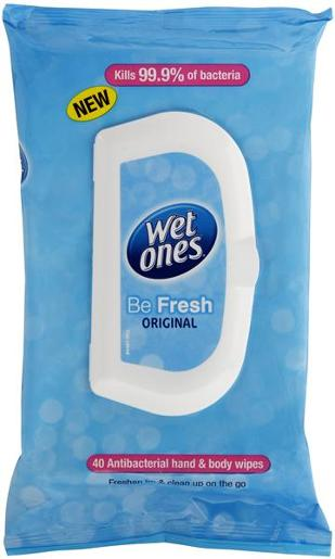 BE FRESH ANTIBACTERIAL MOIST HAND WIPES 40S