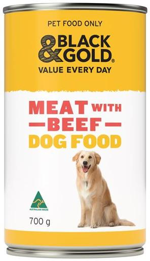 WET DOG FOOD MEAT WITH BEEF 700GM