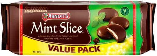BISCUITS CHOCOLATE MINT SLICE VALUE PACK 337GM