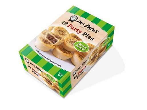 BEEF & PEPPER PARTY PIES 12X50GM