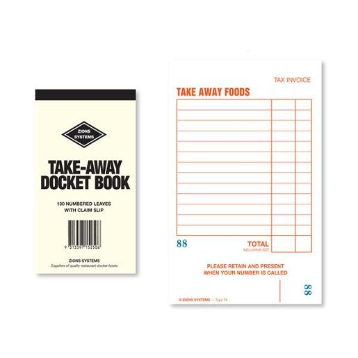 TAKE-AWAY DOCKET BOOK 1EA