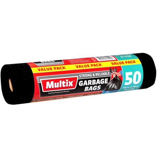 GARBAGE BAGS EXTRA WIDE ROLL 85CM X 7CM 56 LITRE 50S