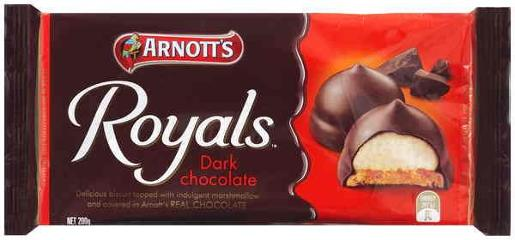 BISCUITS CHOCOLATE ROYALS DARK 200GM