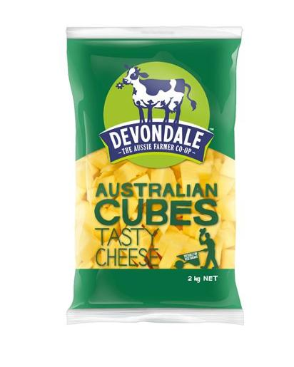 CUBED TASTY CHEESE 2KG