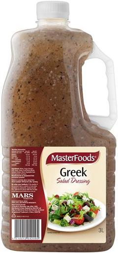 GREEK VINAGRETTE SALAD DRESSING 3L