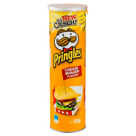 NY CHEESEBURGER POTATO CHIPS 134GM