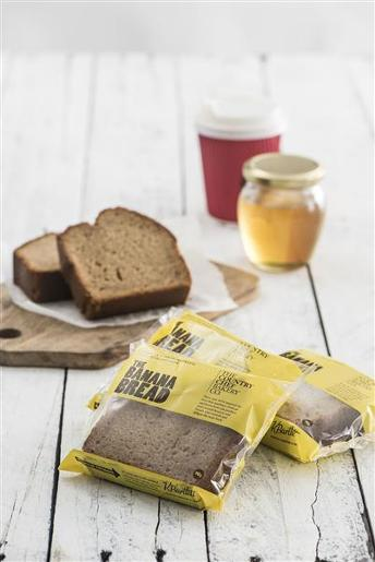 INDIVIDUALLY WRAPPED SLICE BANANA BREAD 32X90GM