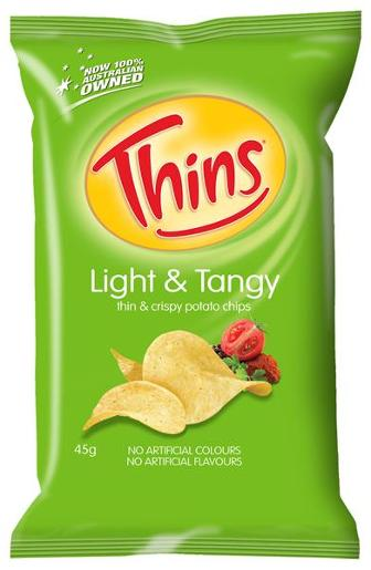 LIGHT AND TANGY POTATO CHIPS 45GM