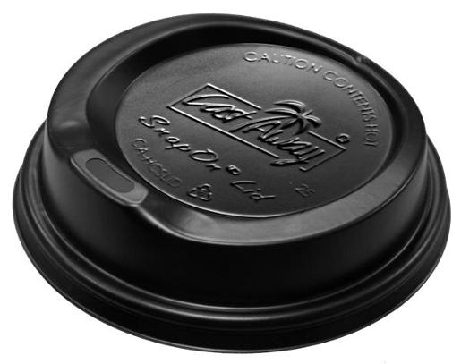 BLACK COFFEE SIPPER LIDS SUIT SINGE/DOUBLE WALL 100S